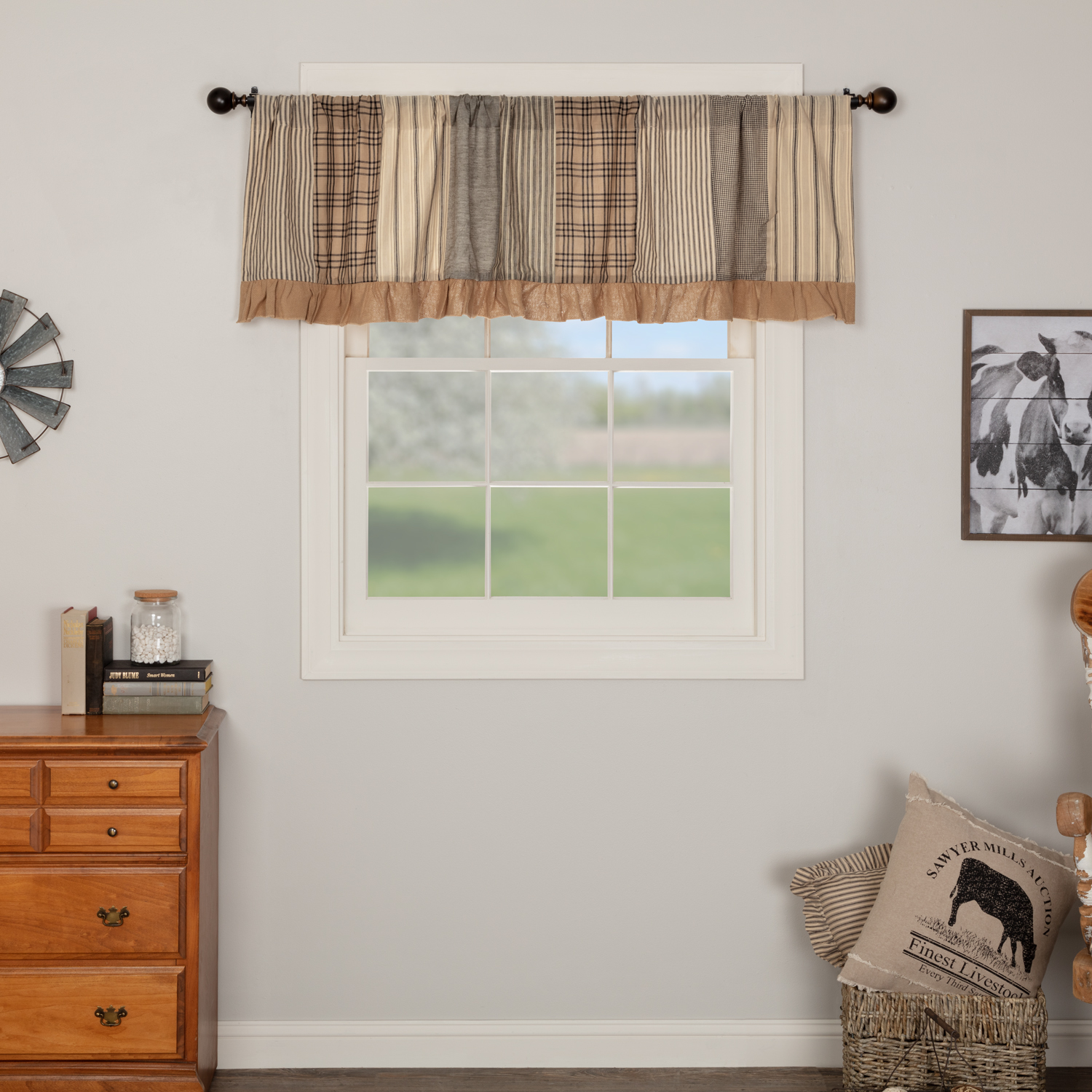 Sawyer-Mill-Charcoal-Patchwork-Valance-19x72-image-1