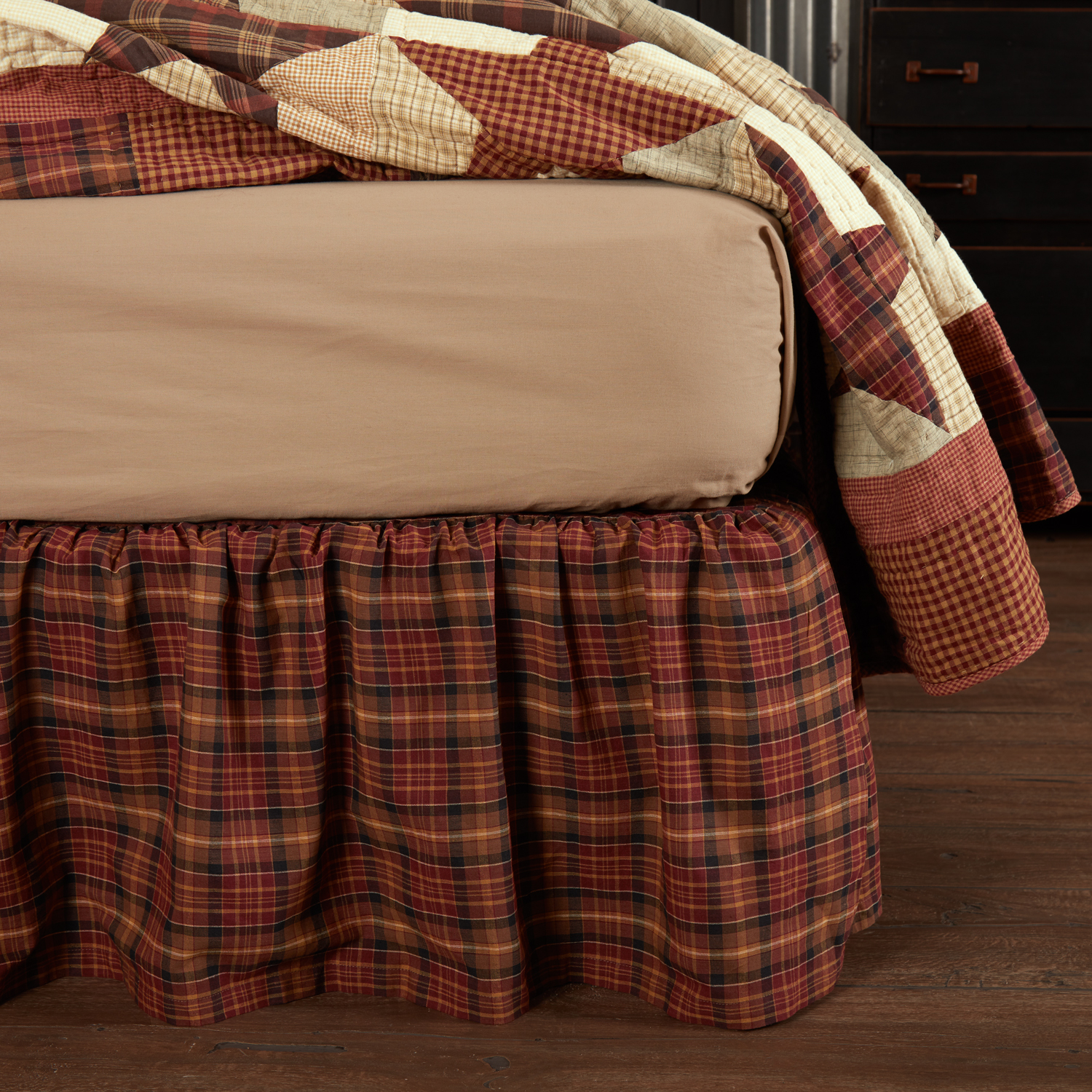 Abilene-Star-King-Bed-Skirt-78x80x16-image-1