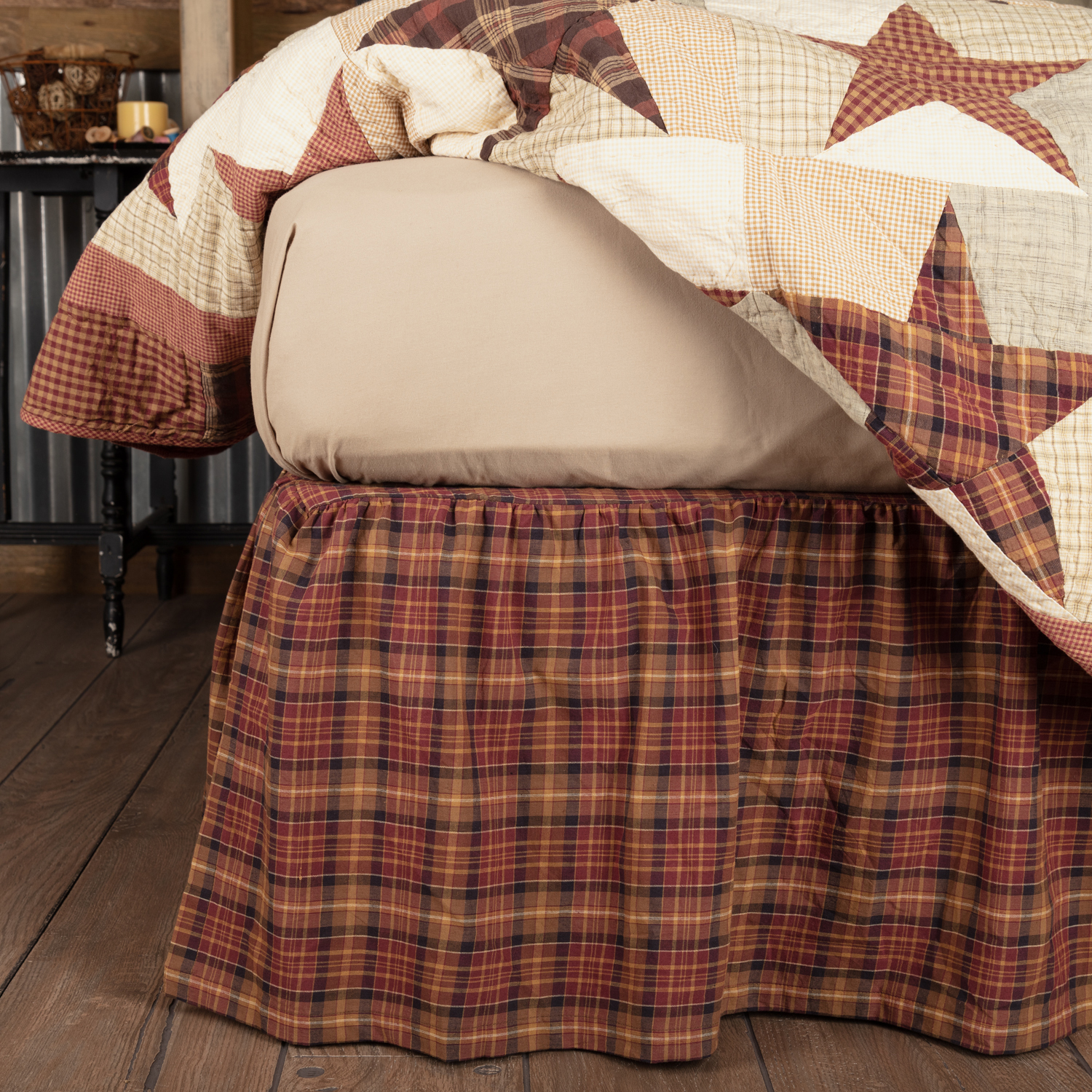 Abilene-Star-King-Bed-Skirt-78x80x16-image-2
