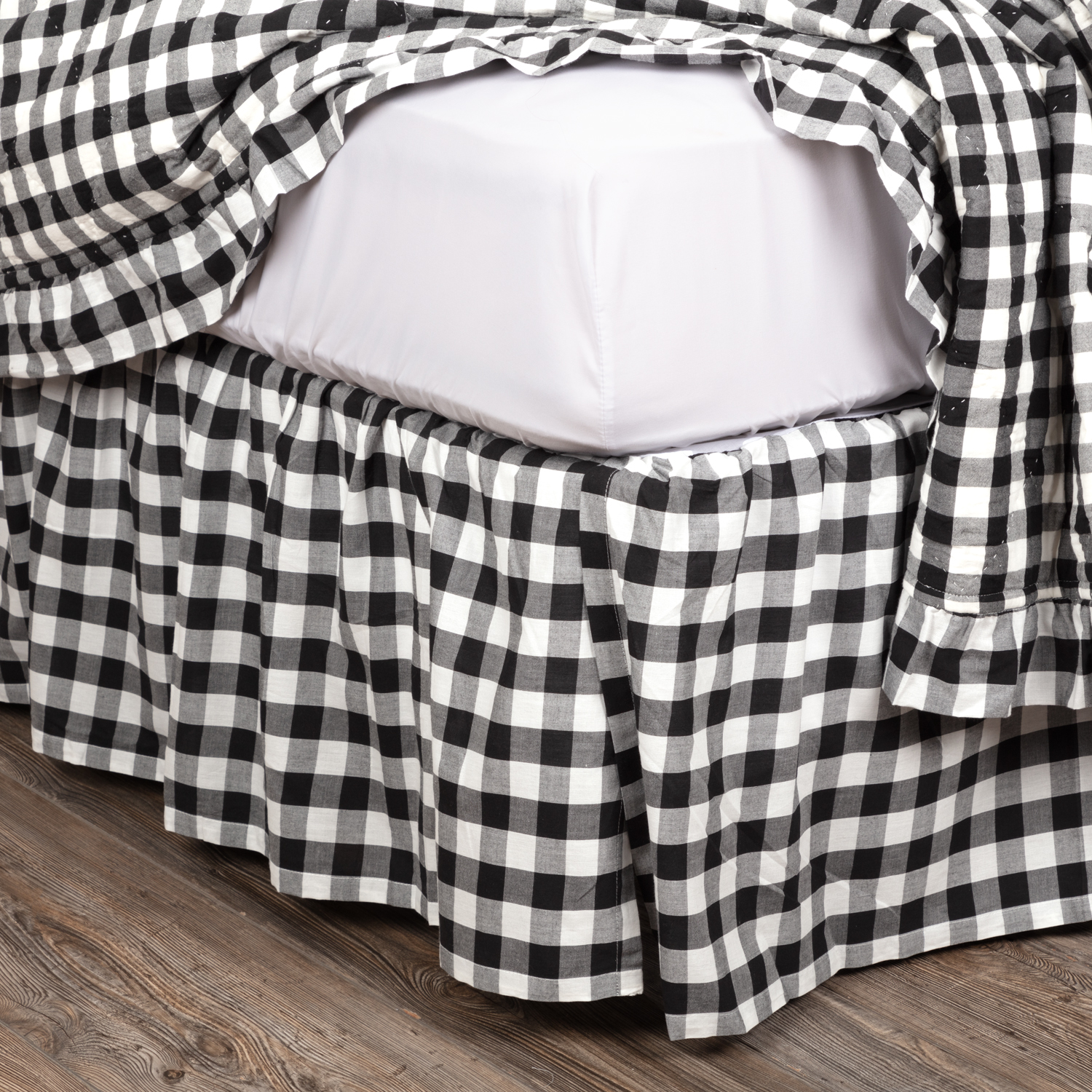 Annie Buffalo Black Check Queen Bed Skirt 60x80x16 40407