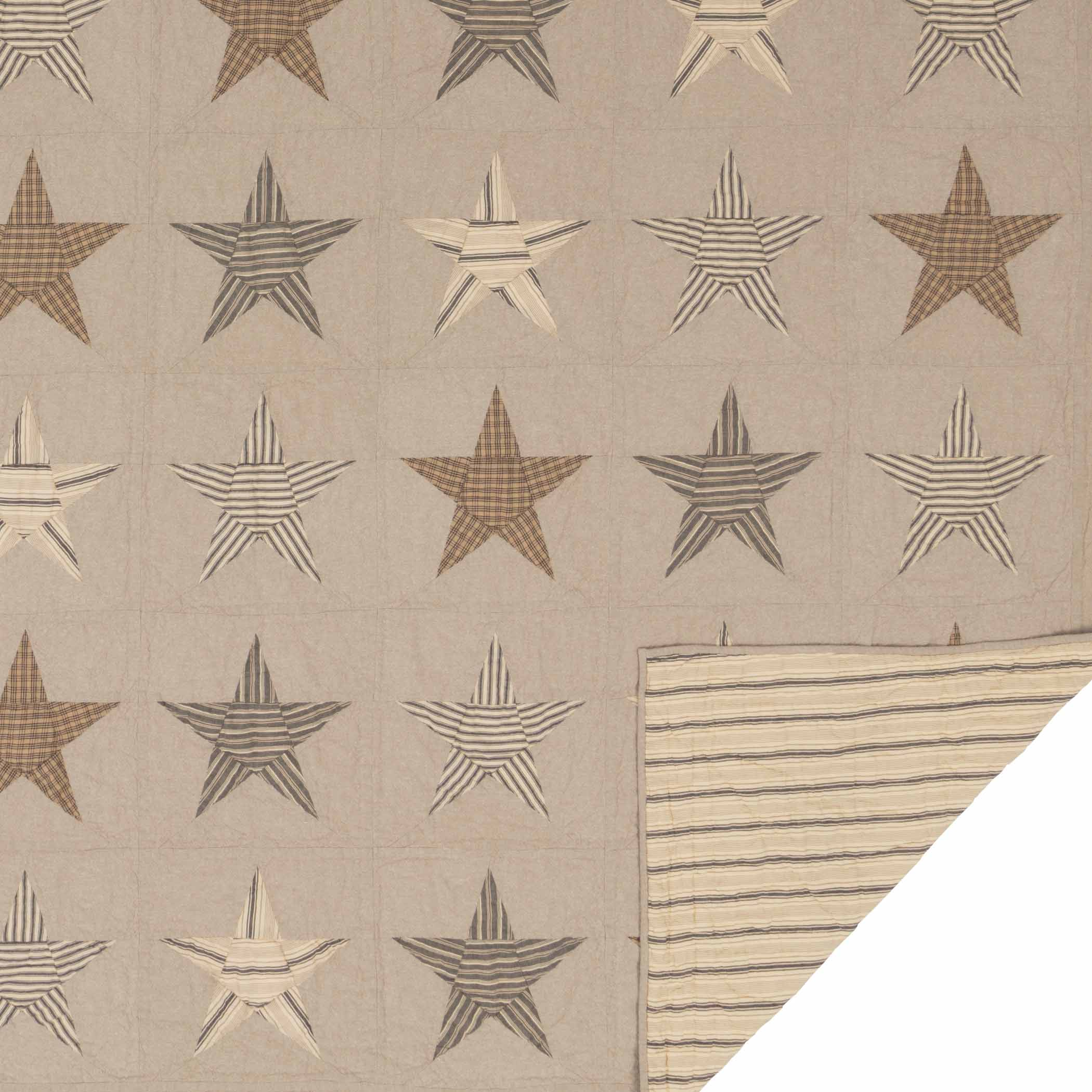 Sawyer-Mill-Star-Charcoal-California-King-Quilt-130Wx115L-image-3