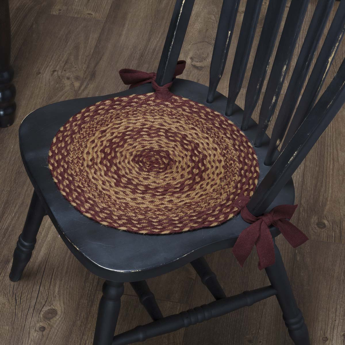 Burgundy-Tan-Jute-Chair-Pad-Set-of-6-image-1