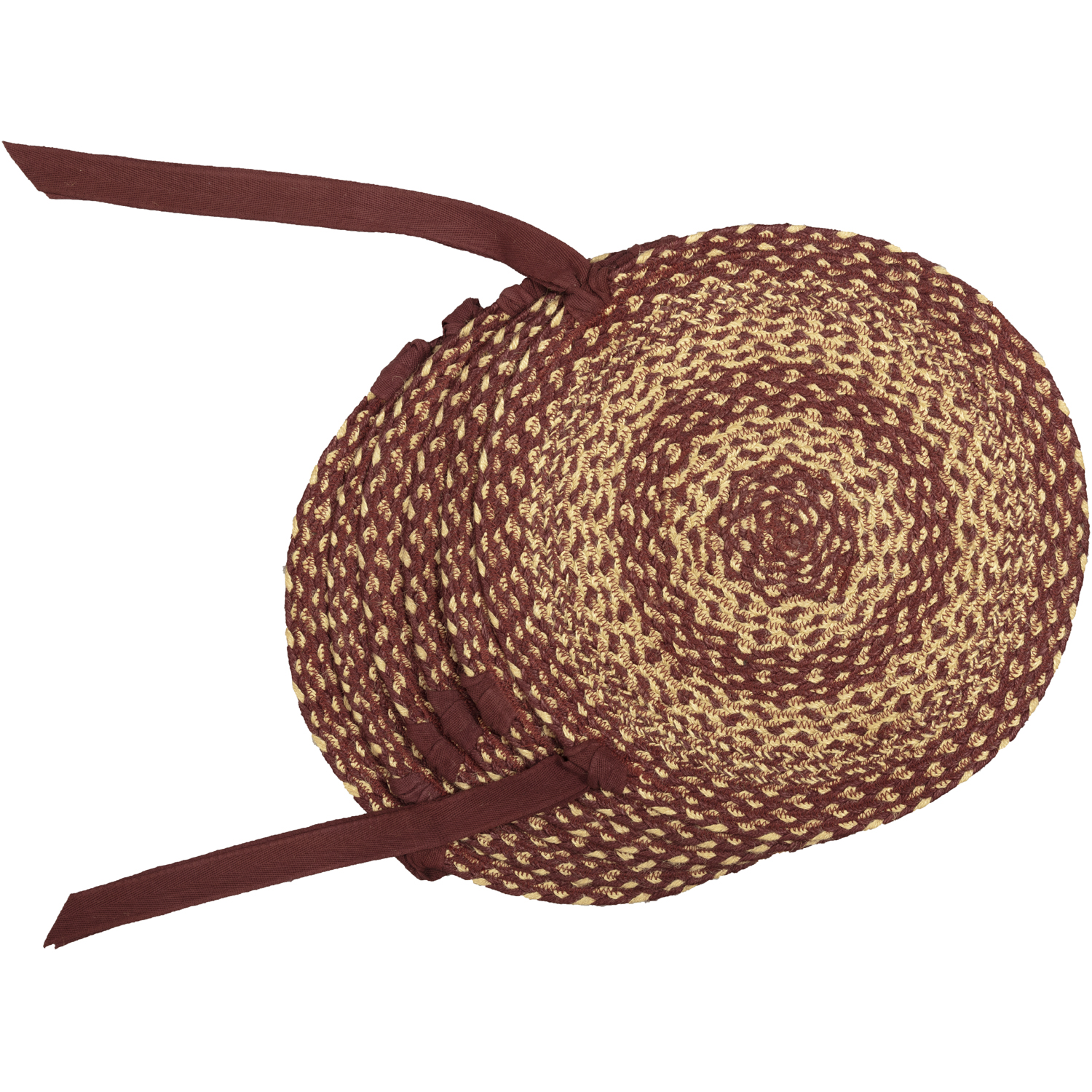 Burgundy-Tan-Jute-Chair-Pad-Set-of-6-image-7