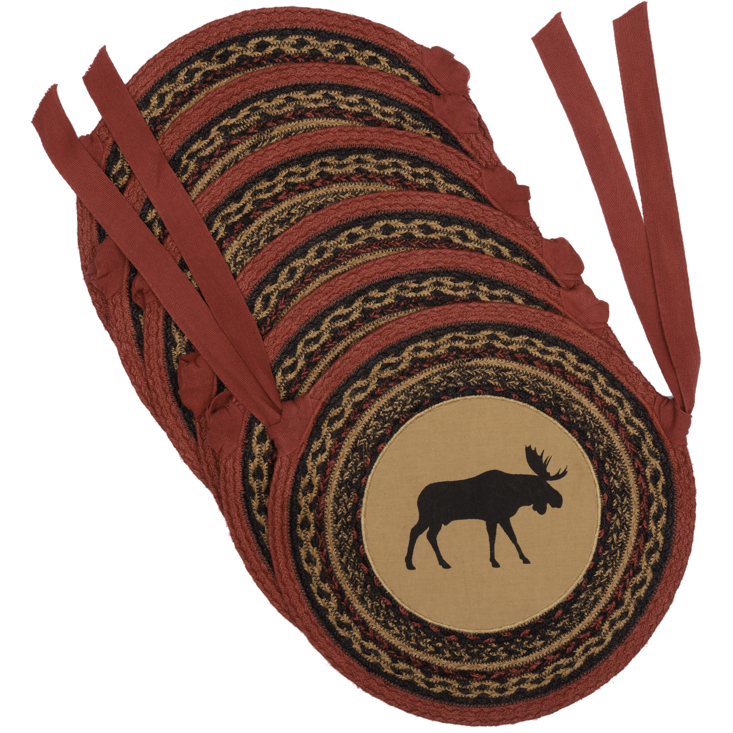 Cumberland-Moose-Applique-Jute-Chair-Pad-Set-of-6-image-2